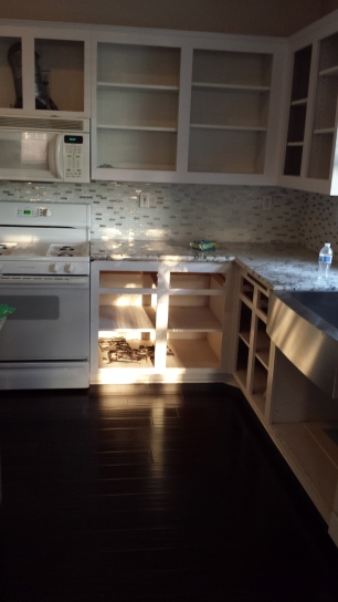 The counters were put in.