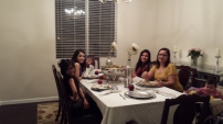 After: Our first Thanksgiving dinner.