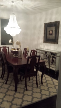 After: we painted with Benjamin Moore's White color.