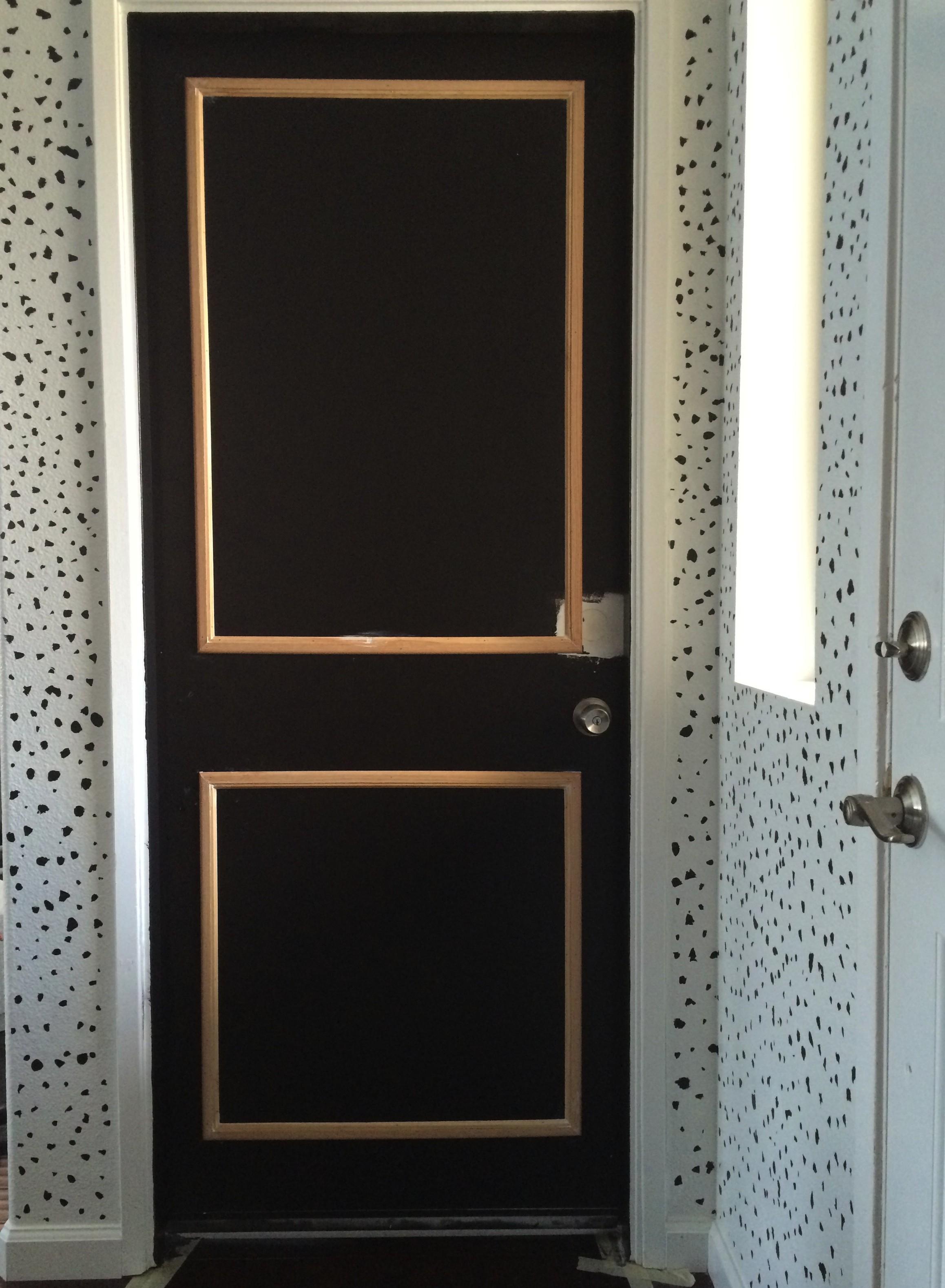 DIY Adding Door Trim to Plain Doors- Our Unfinished Journey \u2013 Mrs. Lady Renaissance & DIY: Adding Door Trim to Plain Doors- Our Unfinished Journey \u2013 Mrs ...